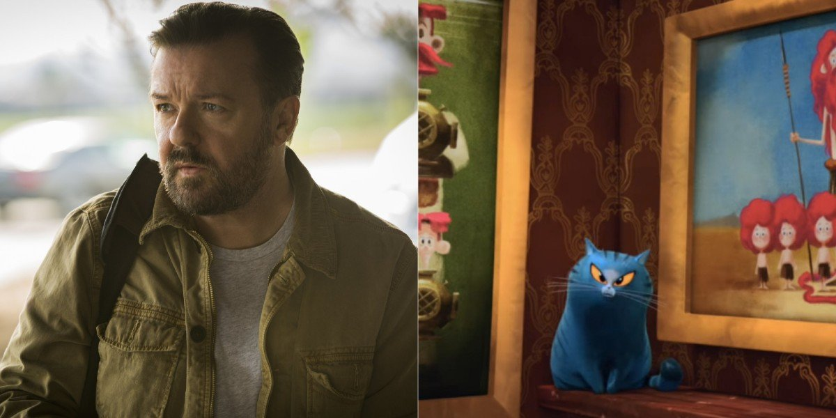 Ricky Gervais - Special Correspondents/ The Cat from Netflix's The Willoughbys
