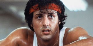 Rocky (Sylvester Stallone) recovers from training in Rocky