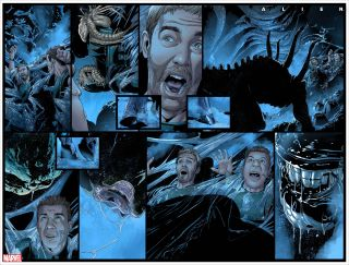"""Marvel is resurrecting the """"Alien"""" film franchise in comics with """"Alien #1"""" dropping on March 24."""