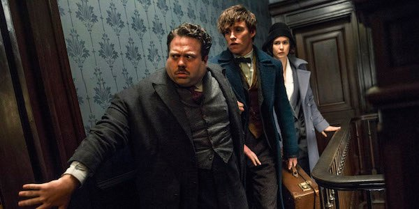 Newt Scamander, Jacob and Tina in Fantastic Beasts and Where to Find Them