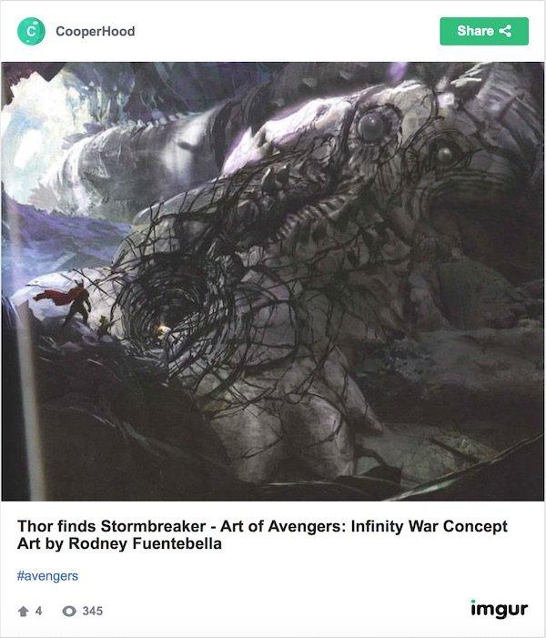 Avengers: Infinity War Thor concept art