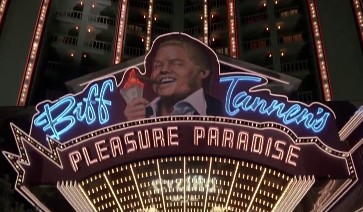 Back to the Future Part II Biff's casino sign