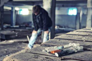 heroin needles, drugs, addict