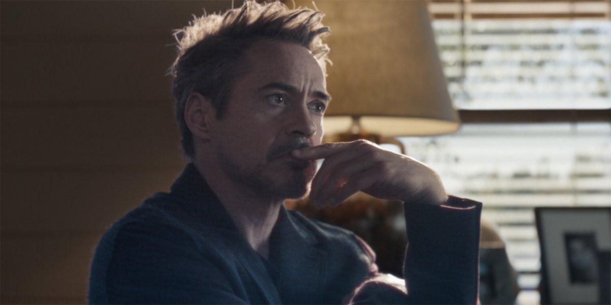 Tony Stark holograph Avengers Endgame Robert Downey jr.