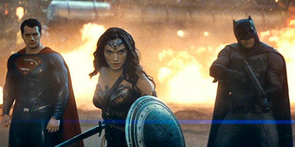 Superman, Wonder Woman, and Batman in Batman v Superman: Dawn of Justice