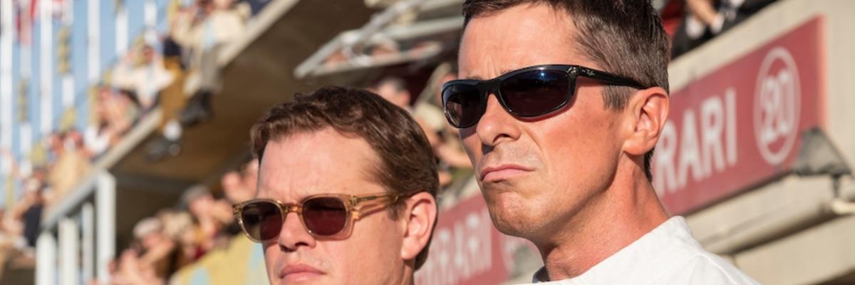 Damon and Bale in Ford v Ferrari