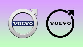 A comparison between two Volvo logos.