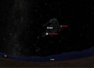 November Full Moon Sky Map