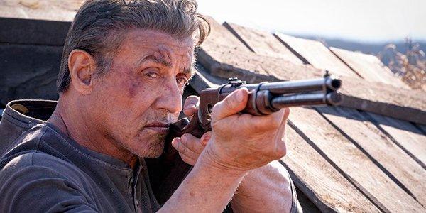 Rambo taking aim in Rambo: Last Blood