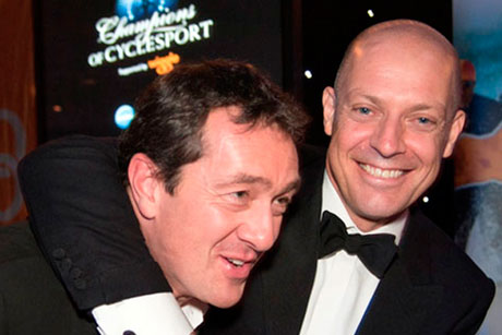 Chris Boardman and David Brailsford, Champions of CycleSport dinner 2012