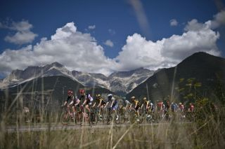 TOPSHOT The pack rides during the 5th stage of the 107th edition of the Tour de France cycling race 185 km between Gap and Privas on September 2 2020 Photo by Marco BERTORELLO AFP Photo by MARCO BERTORELLOAFP via Getty Images