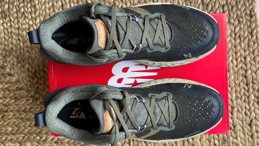 A pair of New Balance Fresh Foam Hierro v6 shoes viewed from above