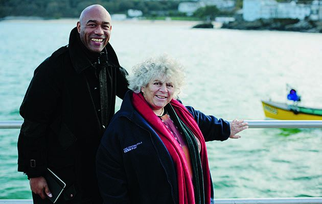 Miriam Margolyes is the first of six celebs being taken by art curator Gus Casely-Hayford to the site where a favourite picture was painted.