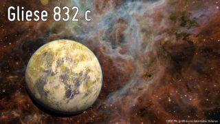 Super-Earth Gliese 832c Art
