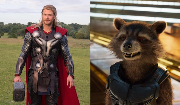 Thor and Rocket Raccoon