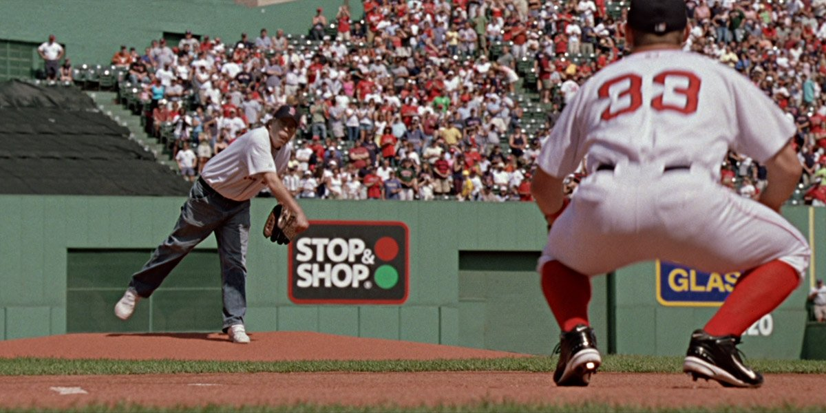 Fever Pitch – Stephen King first pitch Cameo
