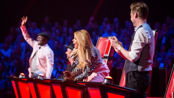 The Voice coaches will.i.am, Paloma Faith and Ricky Wilson