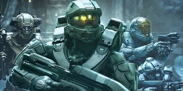 Master Chief and his pals in Halo 5.
