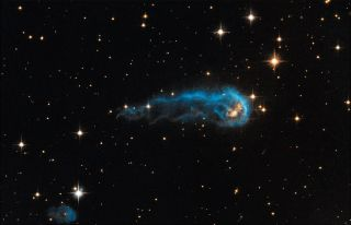 NASA's Hubble Sees a Cosmic Caterpillar