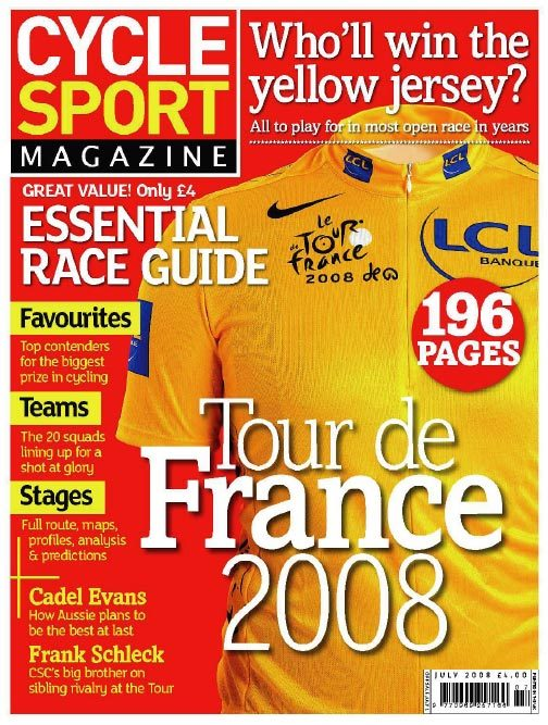 Cycle Sport July 2008 cover