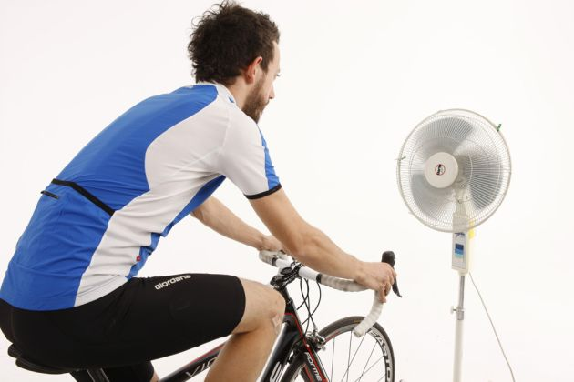 Turbo training with fan