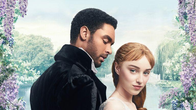 Netflix's Bridgerton series poster featuring Regé-Jean Page and Phoebe Dynevor