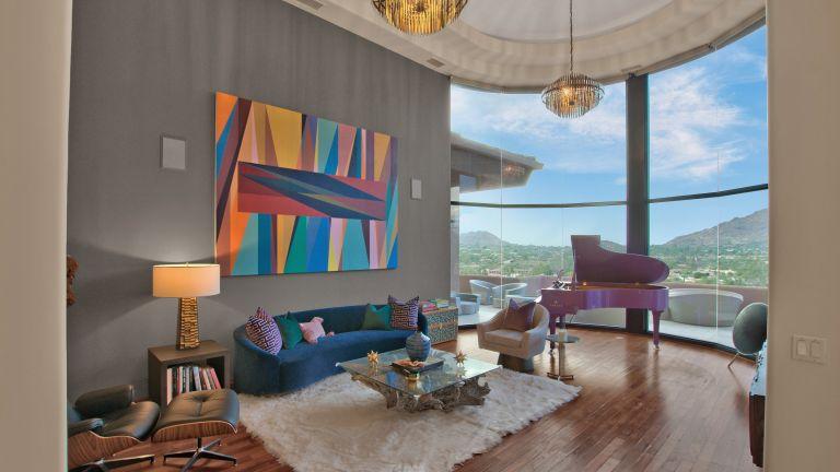 Living room in Alicia Keys's Arizona home