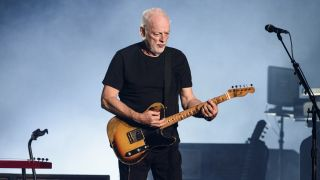 David Gilmour performing live