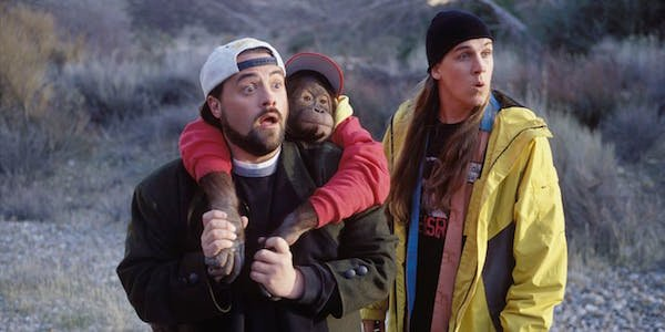 Jay and Silent Bob with chimp
