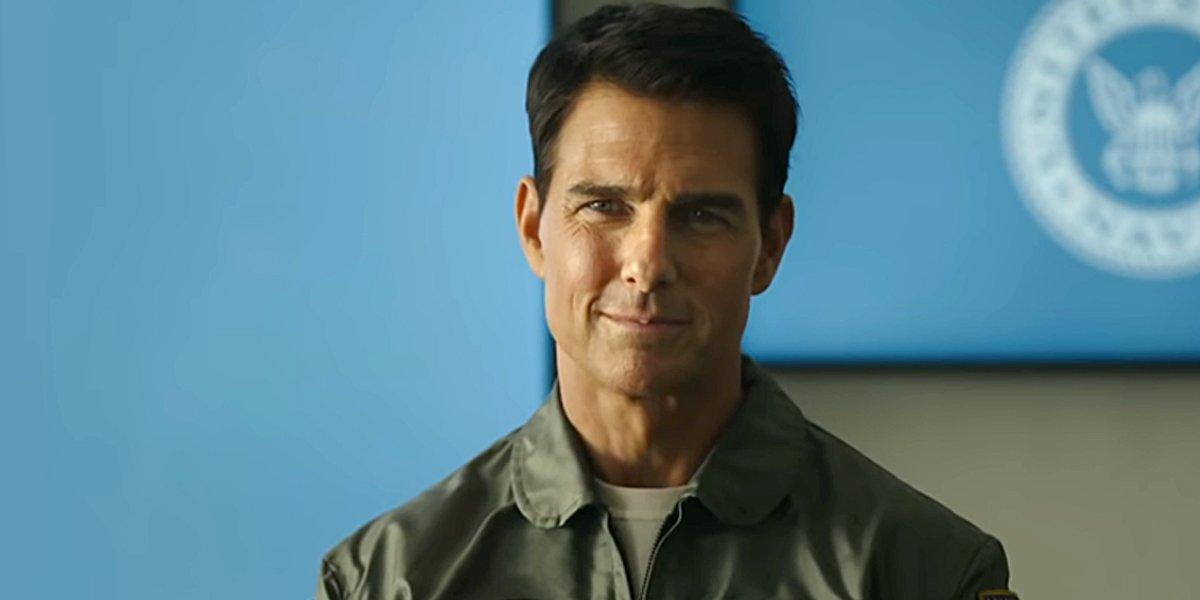 Tom Cruise smiles as Maverick in Top Gun: Maverick trailer Paramount