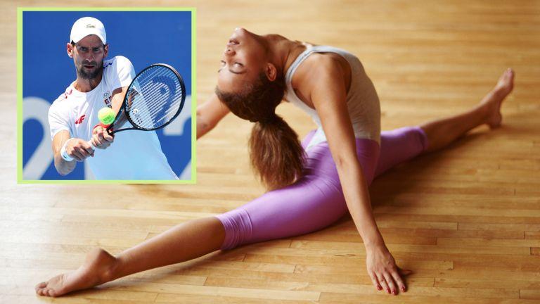 Woman doing the splits