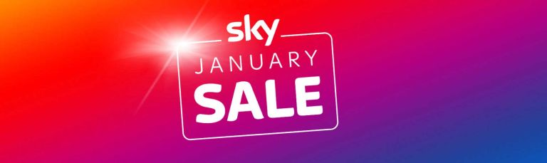 Sky sale banner for January sales