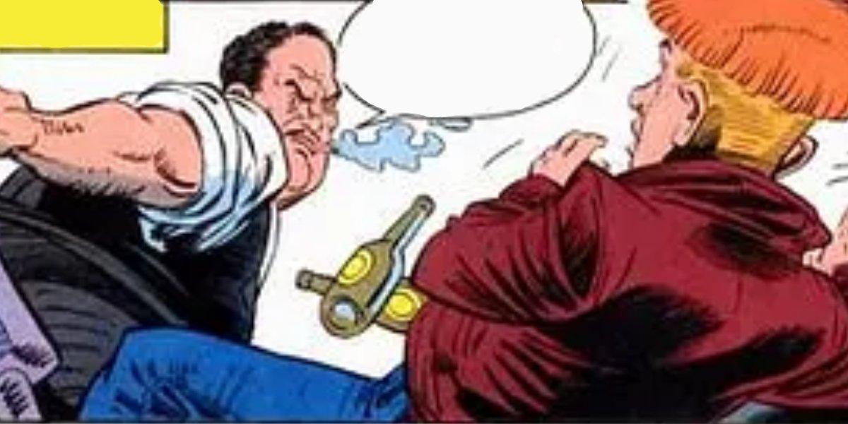 Roland Gardner abusing young Guy Gardner