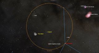 How to See Saturn Shine Near the Moon Tonight | Space
