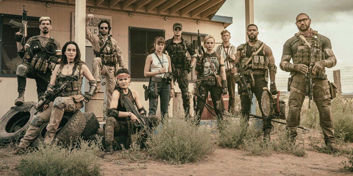 The original Army of the Dead cast with Chris D'Elia