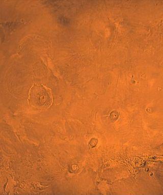 Tharsis volcanic region of Mars