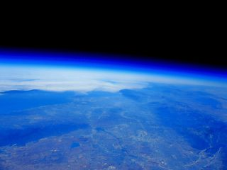 Photo from a previous Quest for Stars balloon mission, looking down at the Los Angeles basin from the edge of space.