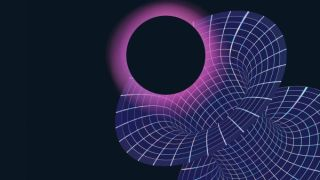 Abstract image of quantum tunneling or space-time wormholes.