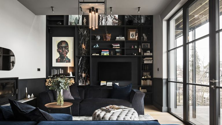 Massimo Minale's living room, expert living room lighting tips from Buster + Punch