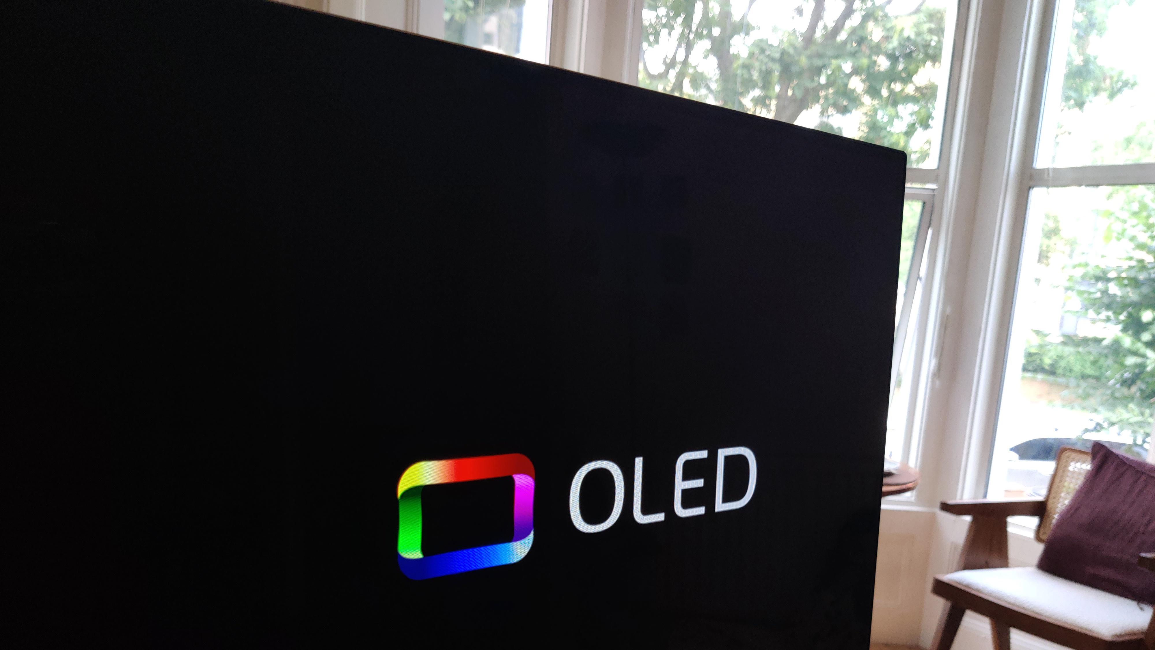 Panasonic JZ2000 OLED TV showing OLED logo