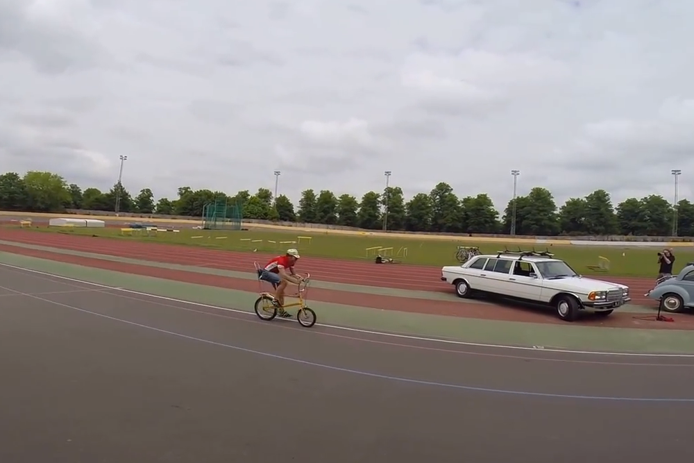 Former national rowing champion sets Raleigh Chopper Hour Record