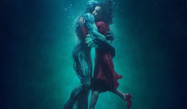 The Shape of Water Doug Jones Sally Hawkins in a watery embrace