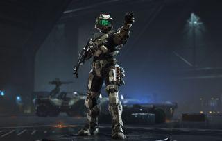Xbox Serie X Halo Infinite spartanisch
