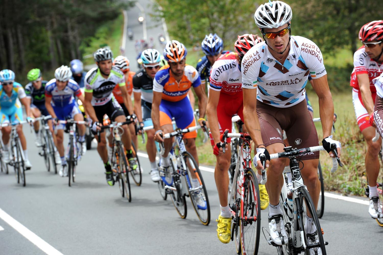 Nicolas Roche in escape, Vuelta a Espana 2011, stage 13