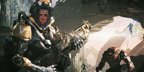 Mercenaries patrol in Anthem.