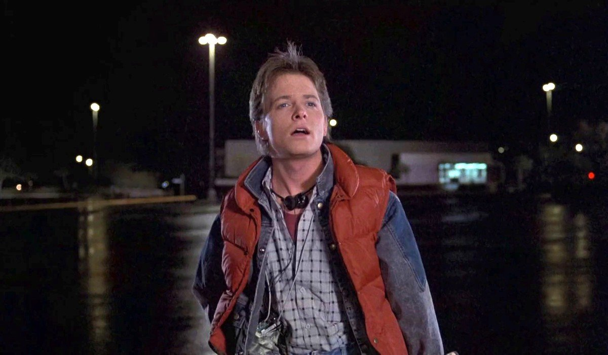 Michael J. Fox as Marty McFly in Back To the Future