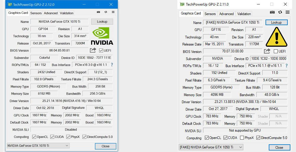 GPU-Z will now tell you if the Nvidia graphics card you bought is a