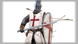 A soldier of the Knights Templar