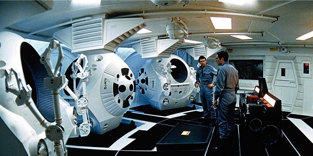 Admiring the space pods