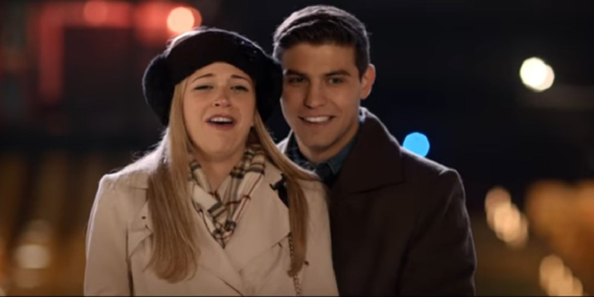 Sarah Fisher and Luke Bilyk in Kiss and Cry